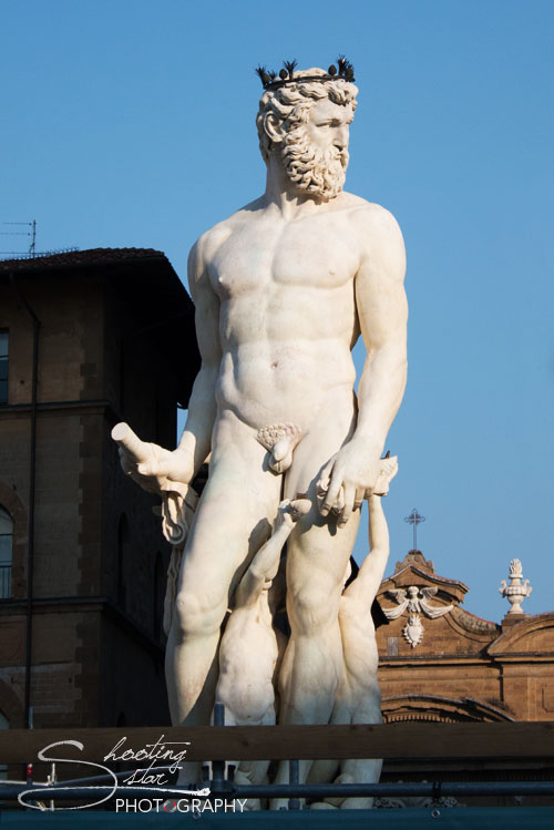 Zeus Statue in Florence, Italy